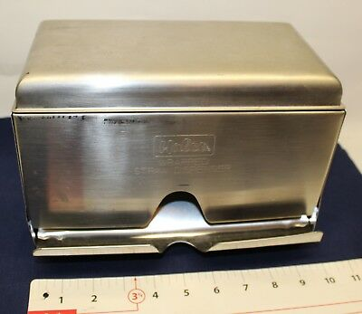 Wrapped STRAW Dispenser HALCO WSD-100 Vintage stainless steel malt shop, cafe,