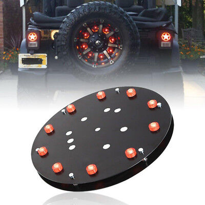 Jk Wheel Rear 3rd Jeep 10led Wrangler Tire Red Spare Accessories Light Brake