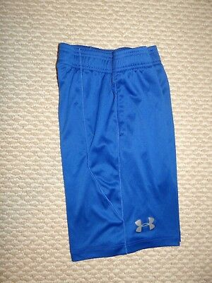 Under Armour Boys Small Shorts Elastic Waist  Youth YSM Loose Fit Blue