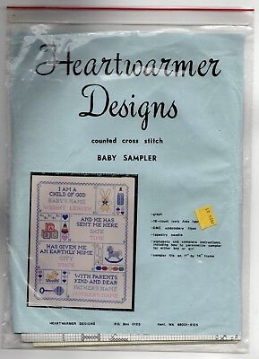 Vintage Baby Sampler Counted Cross Stitch Kit Heartwarmer Designs