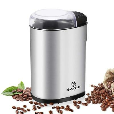 Electric Coffee Grinder, Sararoom Coffee Bean and Spice Grinder Mill 110V Low