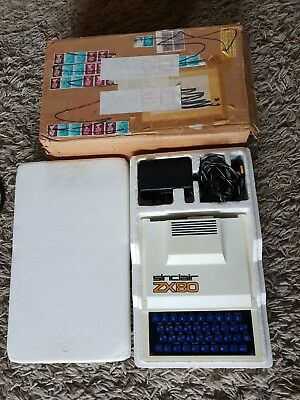 Ultra Rare Vintage Sinclair Zx80 Computer System (Vgc Boxed)