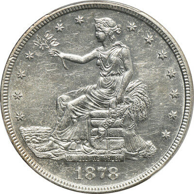 1878-S Trade Dollar AU / Almost Uncirculated 55, PCGS T$1 C41458