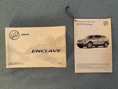 2010 Buick Enclave Owners Manual + Getting To Know Your Buick Enclave Pamphlet