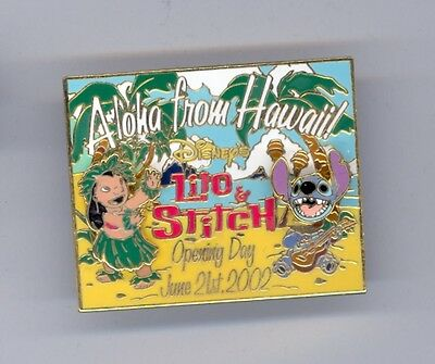 Disney Disneyland Opening Day Lilo & Stitch Movie Aloha from Hawaii Postcard Pin