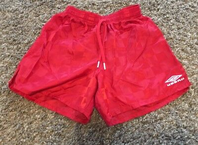 Umbro red boys soccer shorts. Size small.