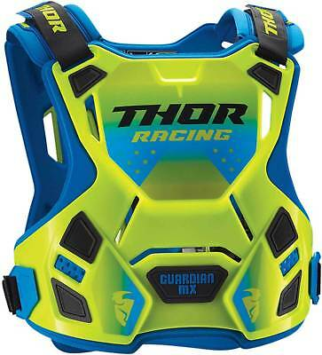 Thor Guardian Mx Chest Protector Flo Green Body Armour Adult Md Lg Motocross Bmx