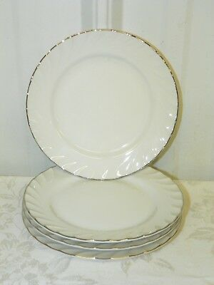 Lot of 4 NORLEANS 'Estate' Fine China Bread Butter Salad Dessert Plates Japan