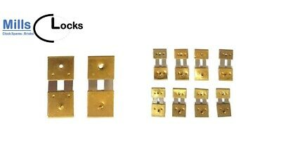 10 x Value pack mixed assortment of clock suspension springs, French, German.