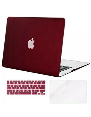 Mosiso Plastic Hard Case with Keyboard Cover Screen Protector for MacBook Air 13