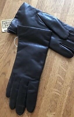 VINTAGE Fownes 100% Cashmere Lined Leather Gloves, small, Brown SIZE 7 S  $72