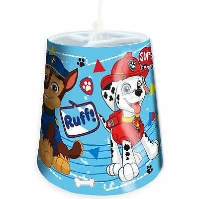Paw Patrol Ruff Tapered Ceiling Light Shade Kids Bedroom Blue