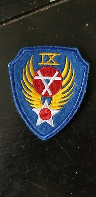 WWII US Army AAC Air Corps 9th Engineers Bn Patch