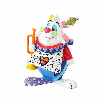 Enesco Britto Disney Alice in Wonderland White Rabbit Mini Figurine