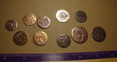 Early 1800s Dutch SHIPWRECK coins treasure of 10 pieces - SPICE TRADE !!