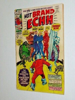 NOT BRAND ECHH 1 August 1967  Silver Age Marvel #1
