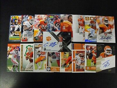 Clemson Tigers 25 Card Lot With  Autographs