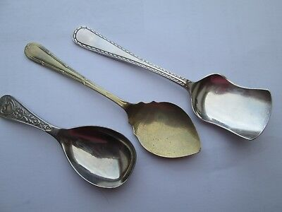 Vintage Tea Caddy Spoon and 2 Jam Spoons