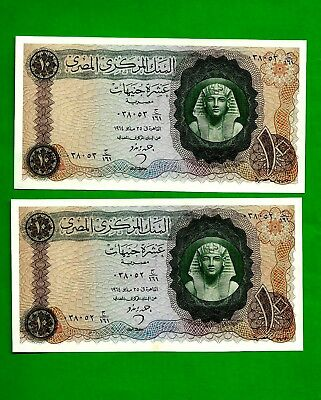 1960`s 2 consecutive 10 pound sign by  Ahmed zindo extremely lovely note,