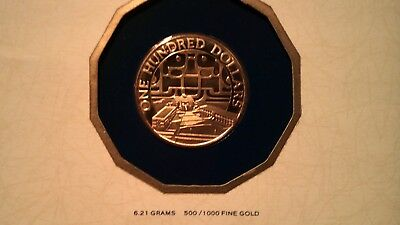 1975 Belize $100 Dollar Gold Proof Coin CERTIFIED 1ST DAY OF ISSUE