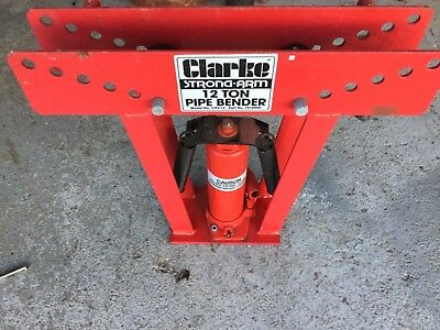 CLARKE pipe bender strong arm 12ton.