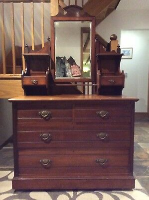 Satinwood Chest Of Drawers With Mirror