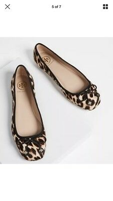 e2d8fdb98886 ... 50 Leopard Print Pony Hair Bow Gold Reva Zip Ankle Boots 11.  329.00  Buy It Now 4d 11h. See Details. NWB Tory Burch Ballet Flat Leopard Size 9M  LAILA ...