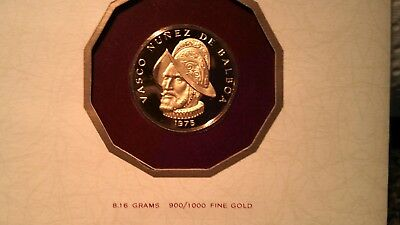 1975 Panama 100 Balboa Gold Proof Coin CERTIFIED 1ST DAY OF ISSUE