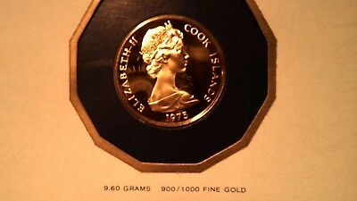 1975 Cook Islands $100 Dollar Gold Proof Coin CERTIFIED 1ST DAY OF ISSUE