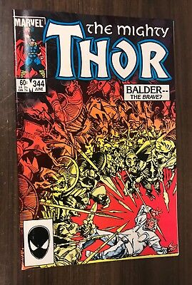 THOR #344 -- 1st Appearance of MALEKITH (Movie) -- VF/NM Or Better