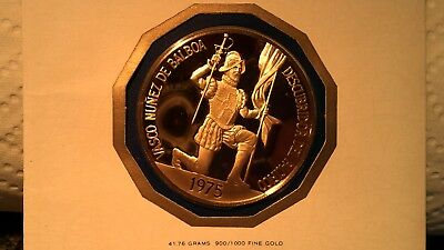 1975 Panama 500 Balboa Gold Proof Coin CERTIFIED 1ST DAY OF ISSUE