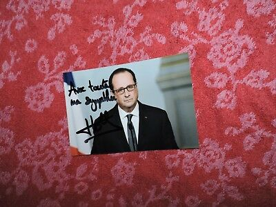 Francois Hollande photo dedicace autograph  collector prédisent France