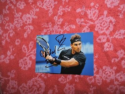 Rafael Nadal photo dedicace autograph  collector Tennis