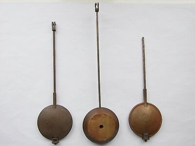 Three French clock pendulums. Antique parts for clock maker
