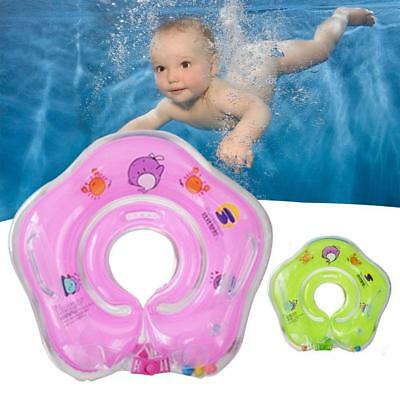UK Inflatable Baby Infant Kids Swim Ring Toddler Neck Float Swimming Ring Pools