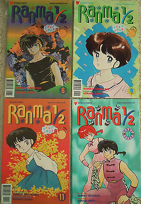 4 x RANMA 1/2 Manga Comics Lot (New / Near Mint)