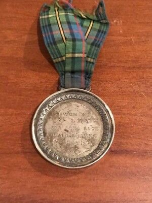 1872 Scottish Silver Medal ' Won By C. Ley For Long Race Cairn Games 9Th July '
