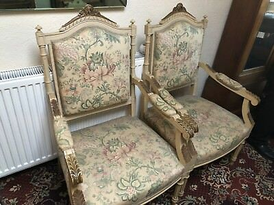 French Arm Chairs Original Pair Vintage Shabby Chic Stunning