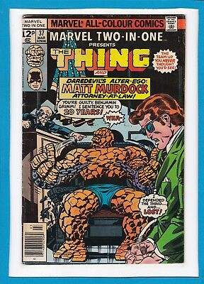 Marvel Two-In-One #37_March 1978_Fine+_The Thing_Matt Murdock_Bronze Age Uk!