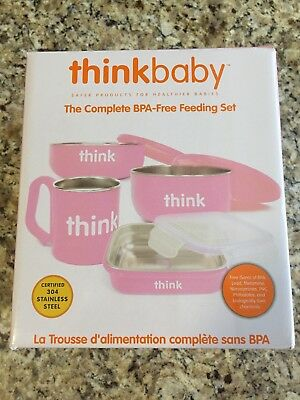 New Thinkbaby The Complete BPA Free Feeding Set, Pink