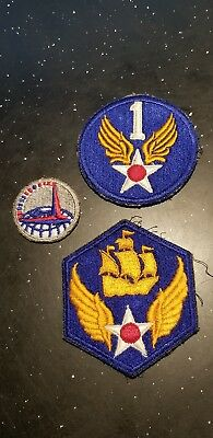 WWII US Army AAC Air Corps Transport Command 1st & 6th USAAF Patch Lot x3