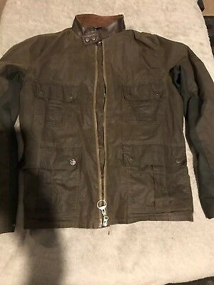 Mens Barbour Steve McQueen Chico olive harrington wax jacket Large