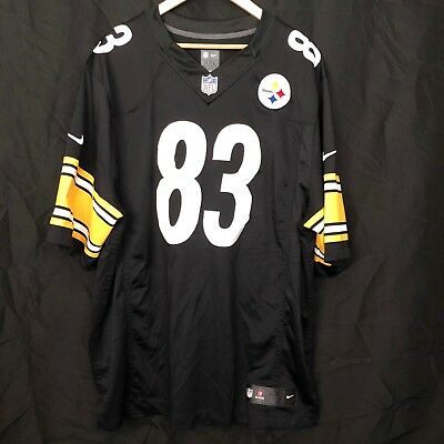 7675a2561 Nike On Field HEATH MILLER  83 Pittsburgh Steelers NFL Football Jersey Sz  XXL