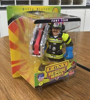 2002 Fisher-Price Rescue Heroes Special Edition Fdny - Billy Blazes