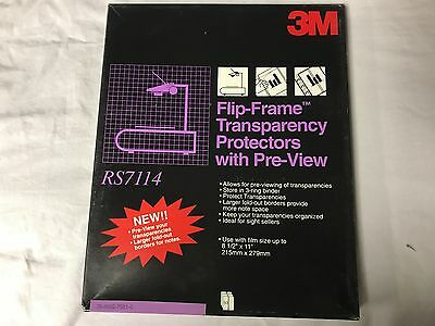3M Flip-Frame Transparency Protectors with Pre-View RS7114 Pack of 50