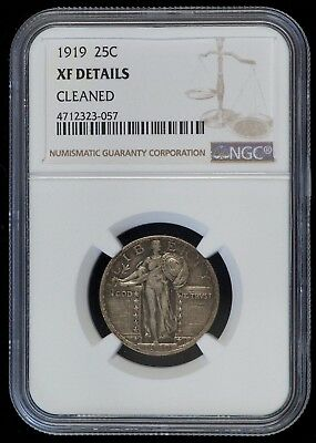 1919 Standing Liberty Silver Quarter (NGC XF Details) US Coin A7416