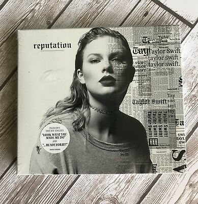 New Sealed reputation by Taylor Swift Slide-Out CD 15 songs MSRP 13.99