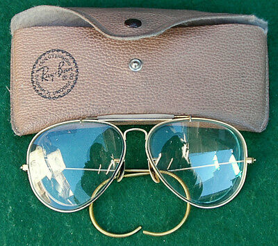 Vintage Bausch & Lomb Ray Ban Men's Eyeglasses in Case, c.1970's