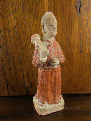 Antique Chinese Mingqi Tomb Pottery Funerary Figure Musician Ming Sichuan OCT41