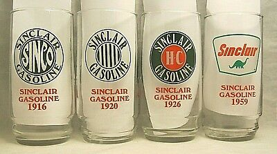 "Sinclair Gasoline ""Through the Years"" 75th Anniversary Glasses - Set of Four -"